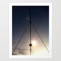 triangled lights Art Print