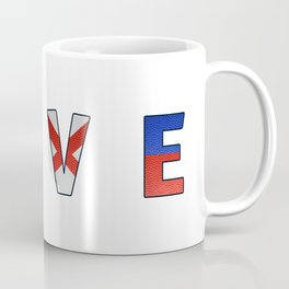 Love - Navy Code Coffee Mug