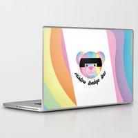 bondage Laptop & iPad Skins featuring Classic Rainbow Bondage Bear 2.0 by YOSH FRIDAY