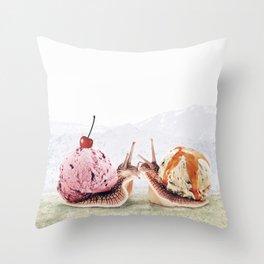 Sweet Snails Throw Pillow