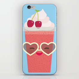 Hello Summer Kawaii cherry smoothie iPhone Skin
