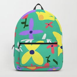 Handmade Bright Spring Pop Art Print Backpack