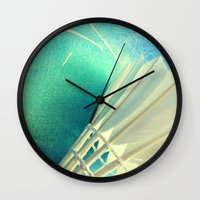 feather Wall Clocks featuring Feather by Yilan