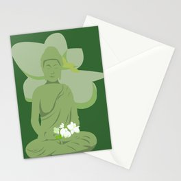Green Buddha Stationery Cards