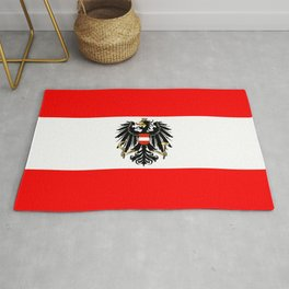 Austrian Flag and Coat of Arms Rug