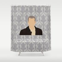 greg guillemin Shower Curtains featuring His Last Vow - Greg Lestrade by MacGuffin Designs