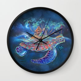Turtle Dream Island Wall Clock