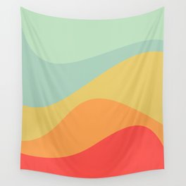 Abstract Color Waves - Bright Rainbow Wall Tapestry
