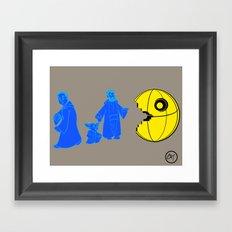 Thats no moon its a... oh hell run!! Framed Art Print