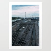Train Hub Art Print