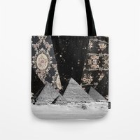 egypt Tote Bags featuring Egypt by Mrs Araneae