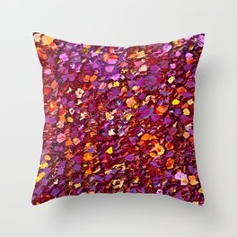 Straw Flowers in the Field Throw Pillow