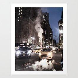 New York Traffic Art Print