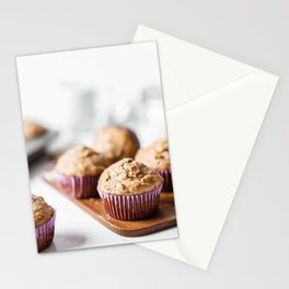 Sweet Baked Muffins, Vanilla Pink Cupcakes, Food Photography, Kitchen Print, Restaurant Cuisine Art Stationery Cards
