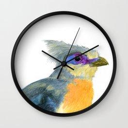 Crested Koa Wall Clock