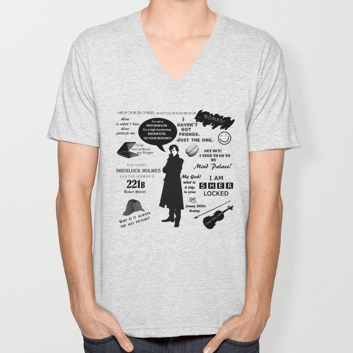 Sherlock Holmes Quotes Unisex V-Neck