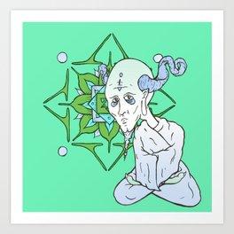 Mandala Guru Art Print