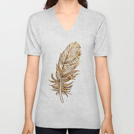 Golden Feather Unisex V-Neck