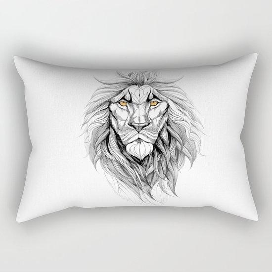 The Lion (black stroke version for t-shirts) Rectangular Pillow