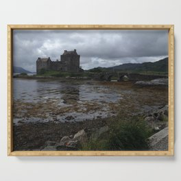 Eilean Donan Castle in Scotland Serving Tray