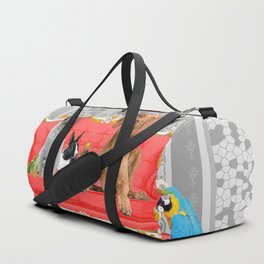 Pet Animals Baroque Couch - Dog - Cat - Bunny - Squirrl Duffle Bag