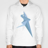 crane Hoodies featuring Crane by Kelly Stahley Designs