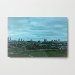 Cloudy day in the City Metal Print
