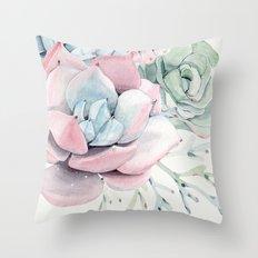 Garden of Succulents Throw Pillow