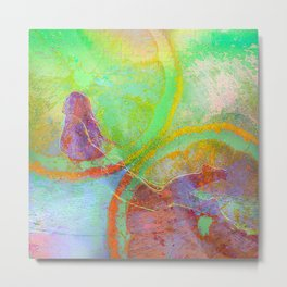 Summer Lemon 2 (This Artwork is a collaboration with the talented artist Agostino Lo coco) Metal Print