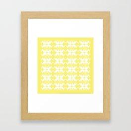 Oh, deer! in buttercup yellow Framed Art Print