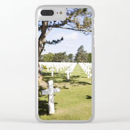 The Crosses at Omaha Beach, Normandy Clear iPhone Case