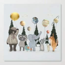 the solar parade Canvas Print