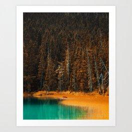 Fall Lake Art Print