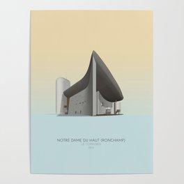 Ronchamp Chapel Le Corbusier Poster