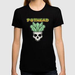 Gardener love Pothead Skull botanic Flower Power T-shirt