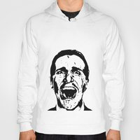american psycho Hoodies featuring American Psycho by ginaxcuzzilla