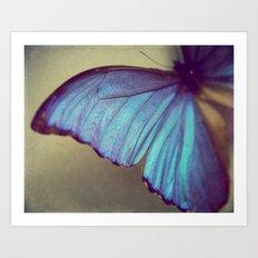 Blue Wing Art Print
