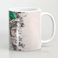 indian Mugs featuring Indian  by mark ashkenazi