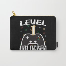 Level 1 Unlocked Gamer Gift Idea Carry-All Pouch