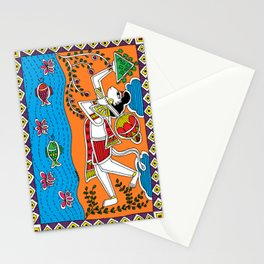 Madhubani Painting / Painting of Hanuman/ Madhubani Hub /Original painting of Amrita Gupta Stationery Cards