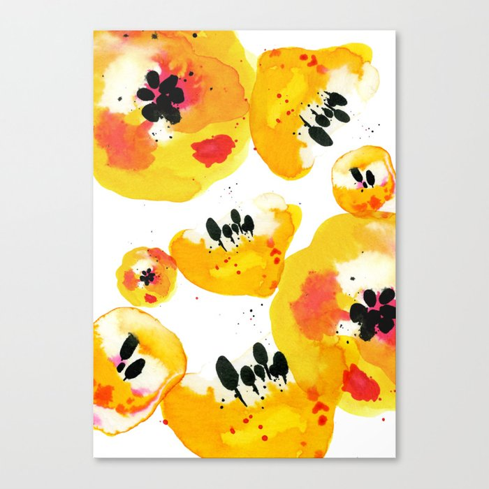 Water Flowers Canvas Print