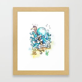 Under the Sea Children's Poster Framed Art Print