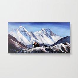 Black Yak On Everest Base Camp Metal Print