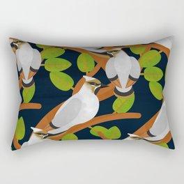 Bohemian waxwing pattern Rectangular Pillow
