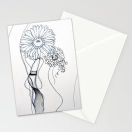 Flower Hair Stationery Cards