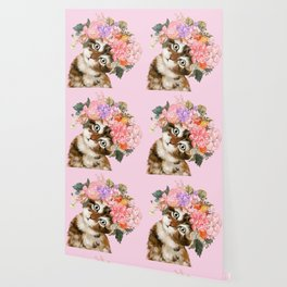 Baby Cat with Flower Crown Wallpaper