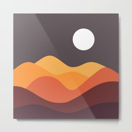 Geometric Landscape 20 Metal Print