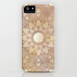 DESERT QUEEN - Bronze Mandala on Gold iPhone Case