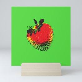 Strawberry Green - Posterized Mini Art Print