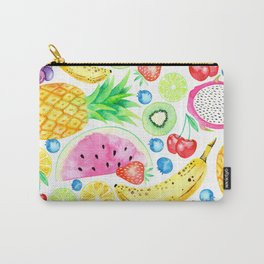 Fruit Salad All-Over Watercolour Print Carry-All Pouch